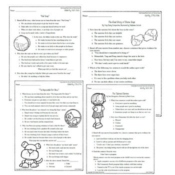 Wonders Third Grade Unit 4 Week 1-5 Bundle Comprehension (3rd Grade)