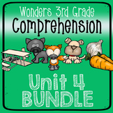 Wonders Third Grade Unit 4 Weeks 1-5 Bundle Comprehension (3rd Grade)