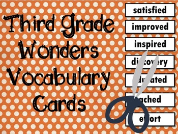 Wonders Third Grade Vocabulary Cards, All Units Bundled