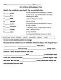 3rd Grade Wonders  Vocabulary Test Unit 1 Week 5