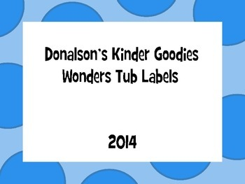 Wonders Tub Labels