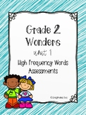 Wonders U1 Bundle High Frequency Words Assessment