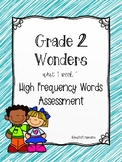 Wonders U1 W1 High Frequency Words Assessment