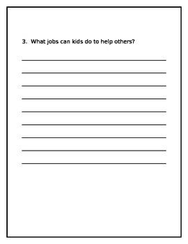 Wonders UNIT 1 WEEK 5- Leveled Reader Open Response Questions