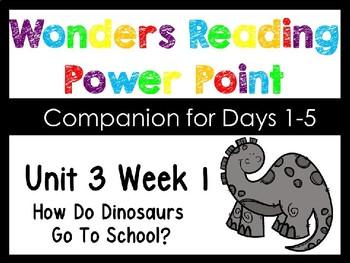 Wonders Uni 3 Week 1 PowerPoint How Do Dinosaurs Go To School?