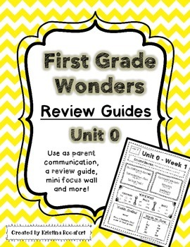 Reading Wonders Unit 0 Start Smart Weekly Review / Parent Guides