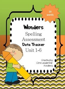 Wonders Unit 1-6~ Spelling Data Tracker