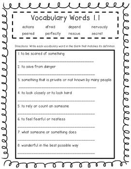 Wonders Unit 1-6 Vocabulary Tests Bundle