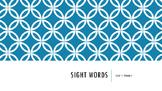 Wonders Unit 1-6 Sight Words Bundle