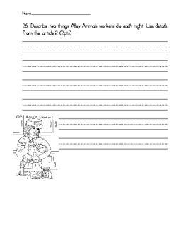 Wonders Unit 1 Assessment Writing Questions