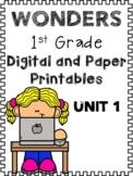 Wonders, Unit 1 Bundle, 1st Grade, Centers and Printables/
