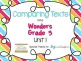 Wonders Grade 3: Unit 1 Comparing Texts