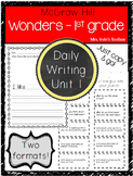 Wonders Unit 1 Daily Writing and Reading Response