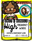 Wonders Unit 1 HFWs Bundle