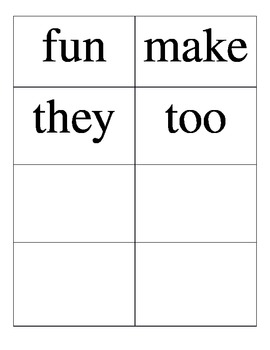 Wonders: Unit 1 High Frequency Word Cards