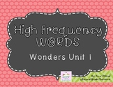 Wonders Unit 1 High Frequency Words (2nd Grade)