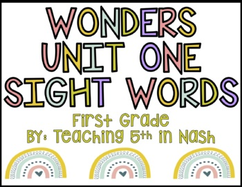 Wonders Unit 1 Sight Words