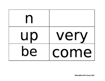 Wonders Unit 1 Sight Words (First Grade)