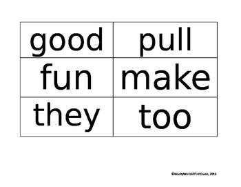 Wonders Unit 1 Sight Words (First Grade)