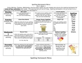 McGraw Hill Wonders Spelling Homework Bundle Unit 1