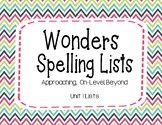 Wonders Unit 1 Spelling Lists (2nd Grade)