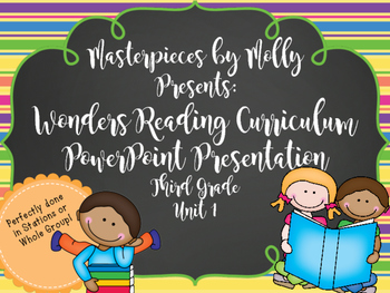 Wonders Unit 1 Third Grade Powerpoint
