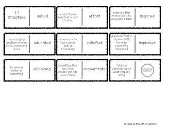 Wonders Unit 1 Vocabulary Dominoes (McGraw-Hill)