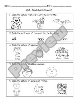 Wonders Unit 1, Week 1 Assessment