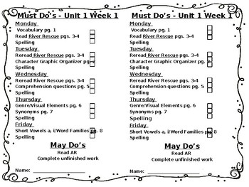 McGraw-Hill Wonders Unit 1 Week 1 Checklist