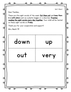 Wonders Unit 1 Week 1 Complete Sight Word Weekly Activities - Grade 1