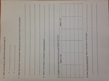 Wonders Unit 1 Week 1 On Level Reader Response Worksheet