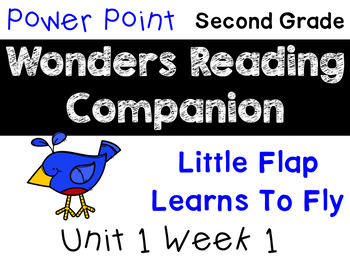 Wonders Unit 1 Week 1 Power Point Interactive Little Flap Learns to Fly. Second