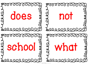 Wonders Unit 1 Week 1 - Word Work Set - First Grade