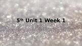 Wonders Unit 1 Week 1 powerpoint