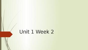 Wonders Unit 1 Week 2 Day 1