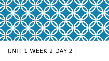 Wonders Unit 1 Week 2 Day 2