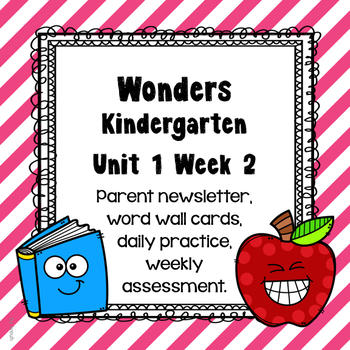 Wonders Unit 1 Week 2, Kinder, Morning Work, Tests, Common Core, Writing
