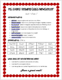 Wonders Unit 1, Week 2 Newsletter 4th Grade