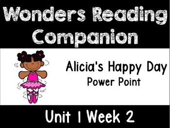 Wonders Unit 1 Week 2 POWER POINT Alicia's Happy Day. First Grade