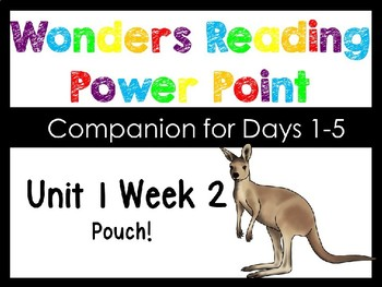 Wonders Unit 1 Week 2 Pouch! Power Point Interactive Kindergarten