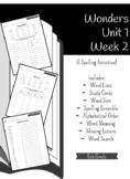 Wonders Unit 1 Week 2 - Spelling Activities - 5th Grade