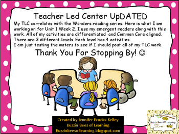 Wonders Unit 1 Week 2 - Teacher Led Center