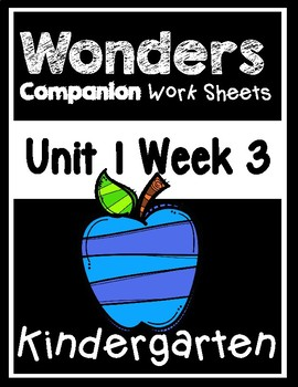 Wonders Unit 1 Week 3 Centers/Worksheets At The Seashore! Kindergarten