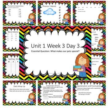 Wonders First Grade Unit 1 Week 3