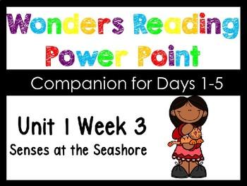 Wonders Unit 1 Week 3 Senses at the Seashore Power Point Kindergarten