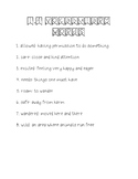 Wonders Unit 1 Week 4 Weekly Vocabulary Page