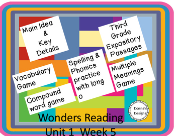 Wonders Unit 1 Week 5 Games and Passages