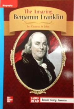 3rd Gr. Wonders Unit 1 Week 4 On Level Response - The Amazing Benjamin Franklin