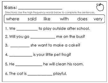 Wonders Unit 1 Week 6 Review Week Centers/Worksheets First Grade