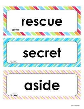 Wonders Unit 1 Weeks 1-5  Second Grade  Vocabulary Words